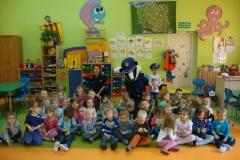 Policjant Borsuk w przedszkolu